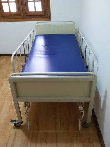 Imagem 1 de 10 de Locação Cama Hospitalar Manual C/ Colchão Hosp D28-r$ 115,00