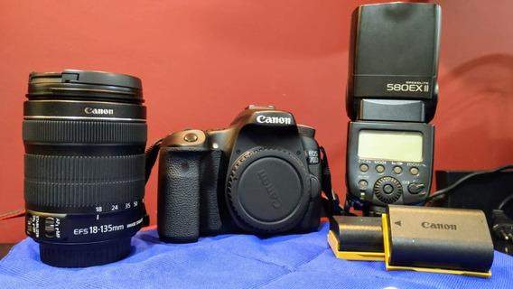 Câmera Canon Eos 70d Dslr Somente Corpo 10k Clicks