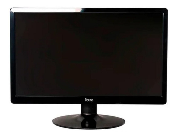 Monitor Pctop 19 Led Slim Preto Vga/hdmi/vesa + Brinde