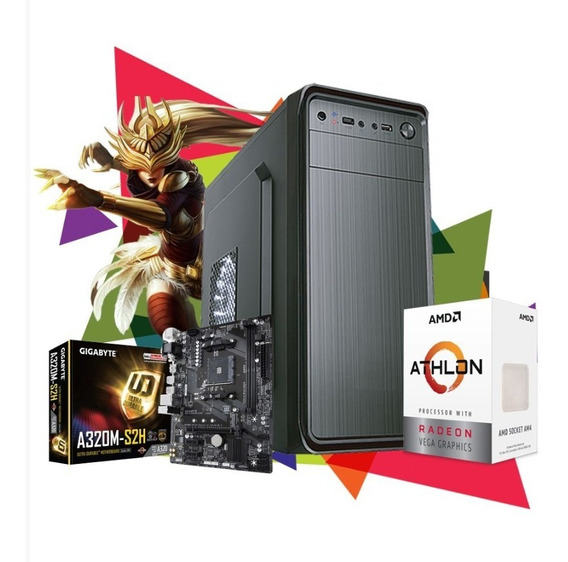 Pc Gamer Clean Sup Amd Athlon 200ge, 2x 4gb, Hd 500gb