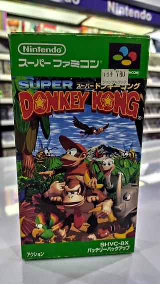 Super Donkey Kong Super Famicom Snes Completo Impecável