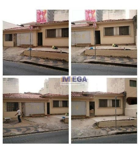 Terreno À Venda, 262 M² Por R$ 1.590.000 - Centro - Campinas/sp - Te0252