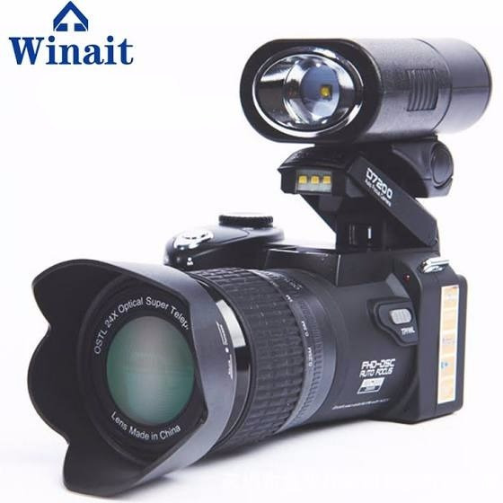 Winait 33mp Câmera Dslr 24x Zoom Óptico 3.0 Ltps Hd Display