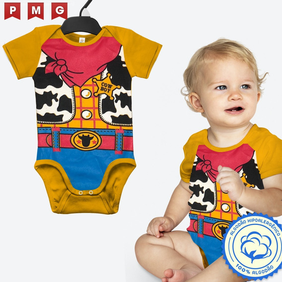 Bebê Body Woody Toy Story Fantasia Festa Carnaval Infantil