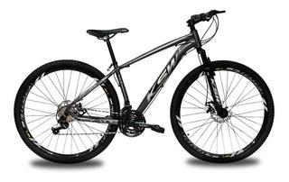 Bicicleta Ksw 29 Xlt Shimano 24v C/ Trava Roler + Hidraulico