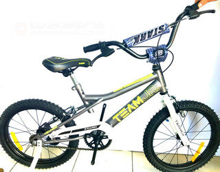 Bicicleta Rod 16 Stark Varón C/rueditas Bmx-gris-works!!
