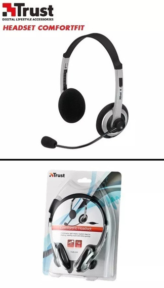 Fone Ouvido Comfortfit Headset 3.5mm Microfone Trust 15480