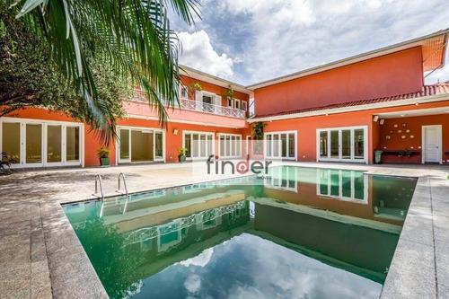 Casa Bem Localizada Com Amplo Jardim, Piscina, Sala De Ginástica, 5 Dormitórios, 3 Suítes E 10 Vagas. R. Caixanas No Jardim Guedala. - Ca0975