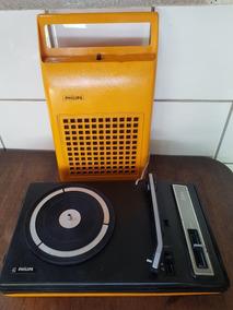 Vitrola Philips Laranja 133 - Funcionando