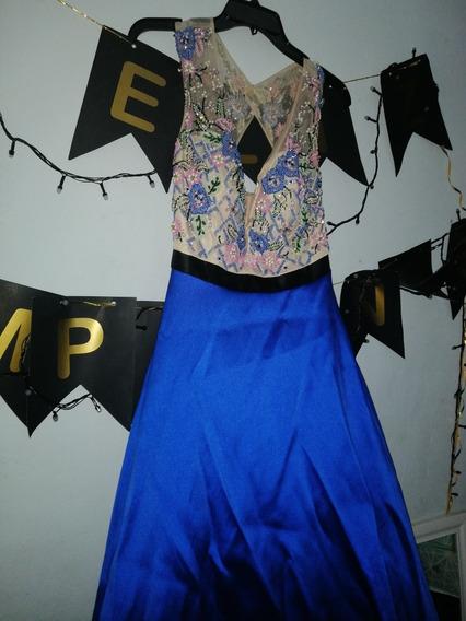 Vestido De Graduacion Azul Marino