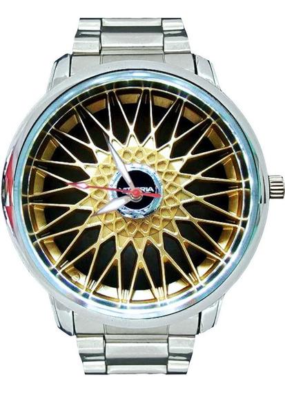 Relógio Roda Bbs Dourada 5521g Frete Grátis Gol Gti Gol Gts