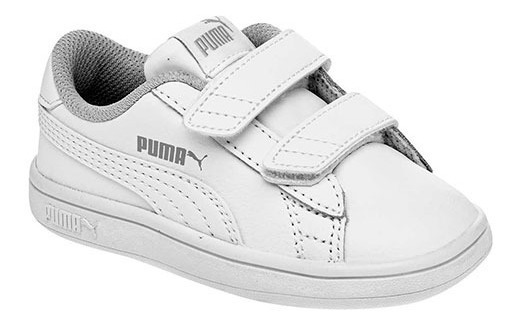 Tenis Puma Smash V2 Buck V Blanco Tallas De #11 A #16 Bebes