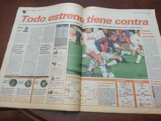 Diario Ole 20/7/1998 San Lorenzo 2 Nacional Montevideo 2