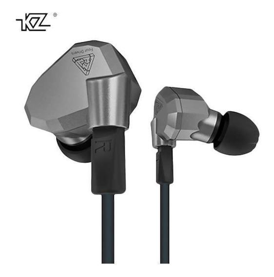 Fone Kz Zs5 Quad-driver Sem Microfone Retorno Palco Esporte Original