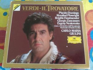 Verdi Il Trovatore Cd Plácido Domingo Etc 3cds Mas Libro R