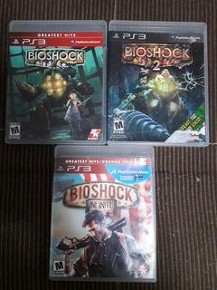 Lote De 3 Bioshock De Ps3