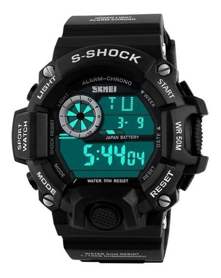 Relógio Masculino Digital Militar Skmei S-shock Prova D