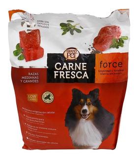 Alimento Grandpet Carne Fresca Force 20 Kg Super Premium Adulto Razas Medianas/grandes. Caducidad Nov 2020