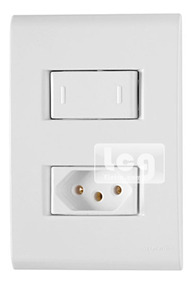 Conjunto Tramontina 2p Liz 1 Interruptor Simples+ Tomada 20a