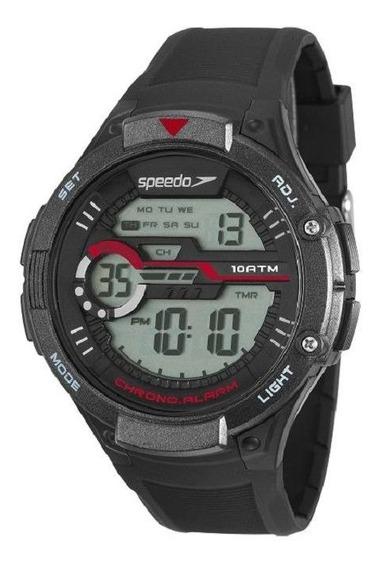 Relógio Speedo Masculino Preto Digital Esporte 11013g0evnp1