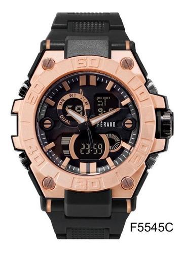 Reloj Feraud F8845c Hombre Analógico Y Digital Luz