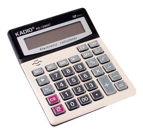 Calculadora Escritorio Mesa Pantalla Lcd Funciona A Pila