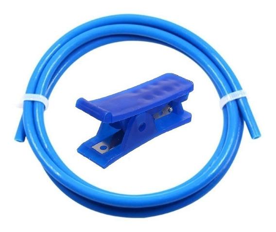 Tubo Teflon Ptfe Azul 50cm + Cortador Tubo Ptfe - Ender 3