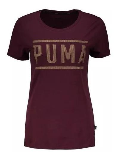 Camiseta Puma Athletic Feminina Roxa