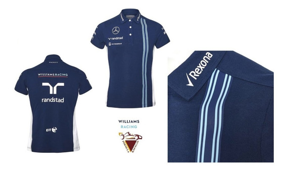 Playera Polo Williams Racing Formula 1 Oficial Mujer Chica