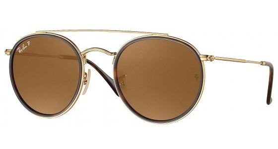 Óculos Solar Ray-ban Double Bridge Rb3647n 001/57- Refinado
