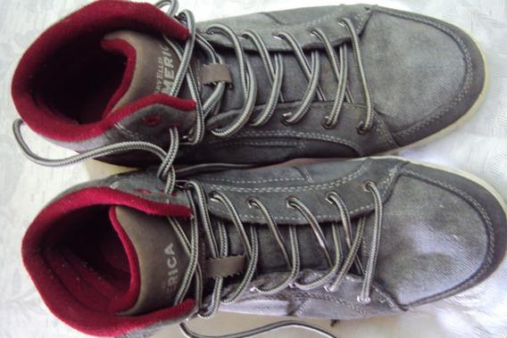 Zapatillas Perry Ellis Gris-rojo Hombre Nº40 Rebajada