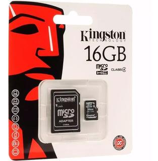Memoria Kingston Micro Sd 16gb Clase 4 Originales Lote X6