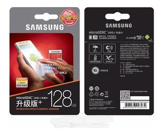 Cartão Samsung Micro Sd Evo Plus 128gb 100mb/s U3 Lacrado Galaxy S7 S8 S9 S10 Motorola Moto G Drone Gopro Hero Original.