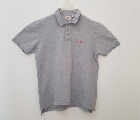 Camiseta Polo Cinza Claro (levis)