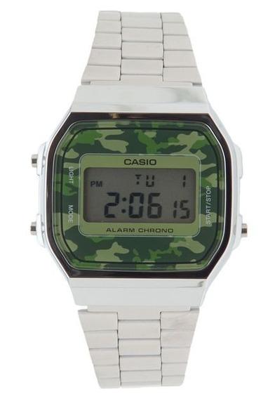 Relógio Casio Vintage Camuflado A168wec-3df + Frete