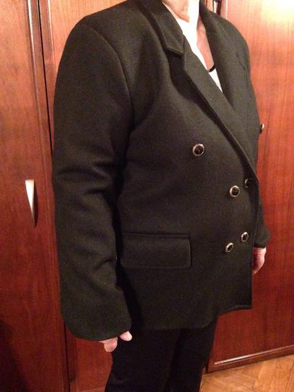 Saco De Lana Color Negro Talle 46