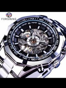 Relógio Mecânico Automático Forsining Prata