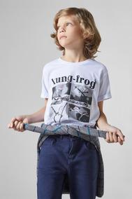 Camiseta Mini Pf Estampada Kung Frog Reserva Mini