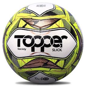 Bola De Futebol Oficial Society Topper Slick Ii Amarelo