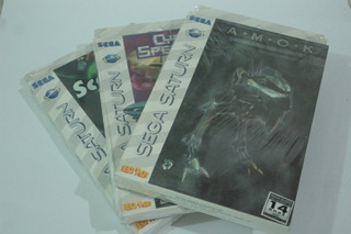 Lote 3 Jogos Originais Tectoy Sega Saturn Lacrados Tec Toy