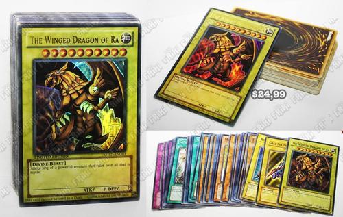 Set Anime Yu-gi-oh Cartas Dragón Alado De Ra (tienda Friki)