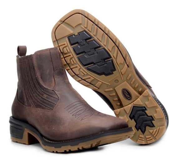 Botina Masculina Confort Country Texana C/ Elastico Ref 1020