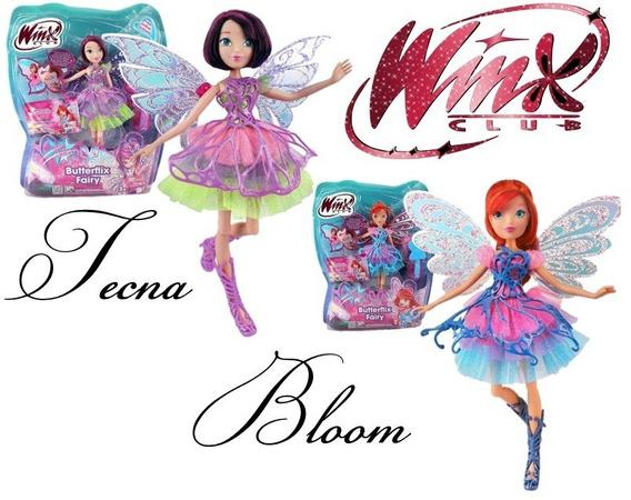 Kit C/2 Bonecas Winx Club Butterflix Fairy - Bloom + Tecna