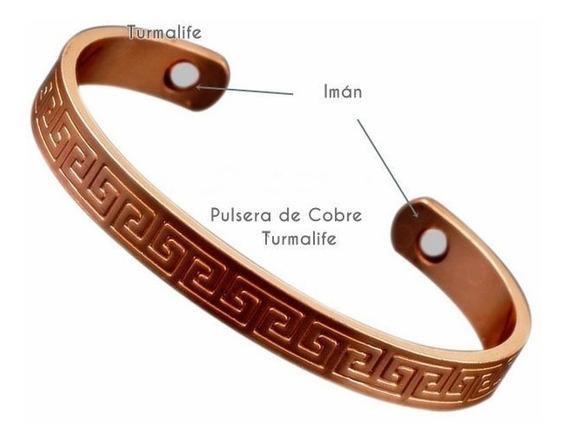 Pulsera Cobre 2 Imanes Por Dentro Saludable