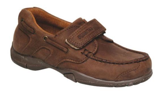 Zapato Náutico De Cuero Marrón