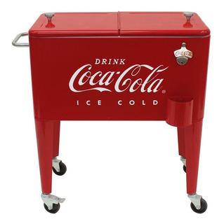 Hielera Coca Cola Retro Vintage Ruedas Destapador