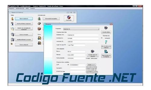 Imagen 1 de 8 de Codigo Fuente Sistema Programa Software Sueldos Y Jornales