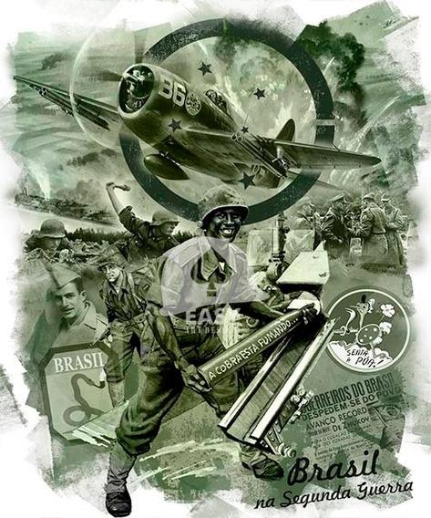 Camiseta Algodão Segunda Guerra Brasil Feb / Fab
