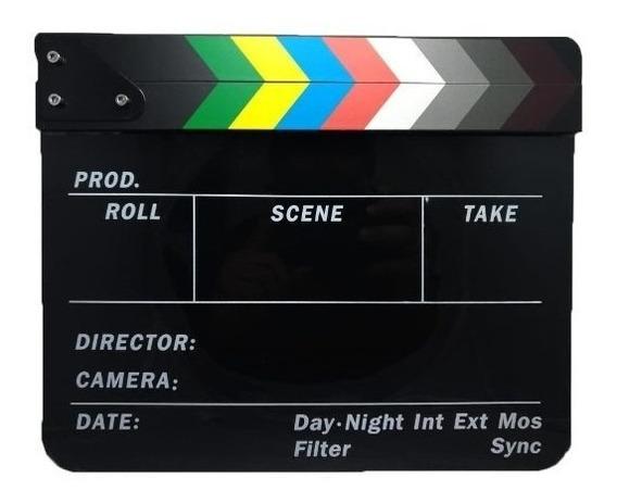Claquete Acrilico Profissional Produção Filme Video Estudio