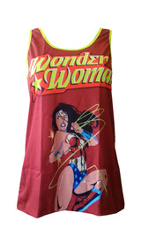 Blusa Regata Feminina - Mulher Maravilha Dc Comic - Geek